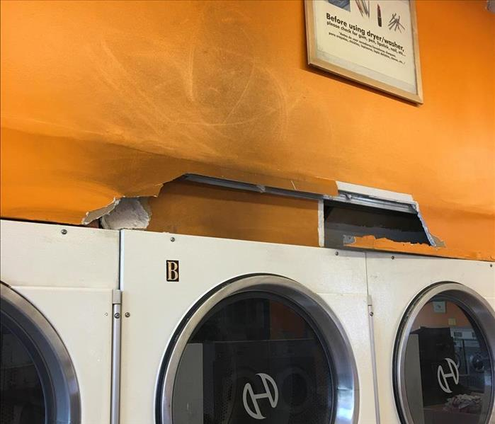 Fire Damage at Laundromat
